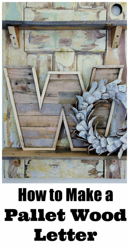 DIY Pallet Wood Letter Create a stunning pallet wood letter that will look brilliant on your mantle or front door. The rustic charm will add to elegance to any space. You only need minimal supplies too. thesawguy.com
