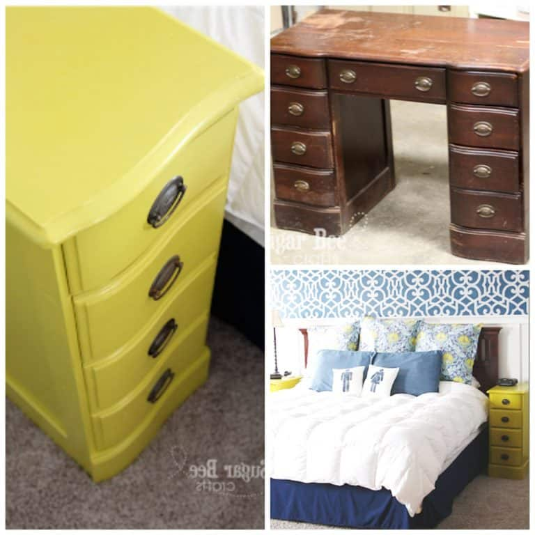 Transform old desk to bedside tables - These furniture hacks will turn outdated and old furniture into treasured pieces. From little to no money you can have creative furniture statements throughout your home. thesawguy.com
