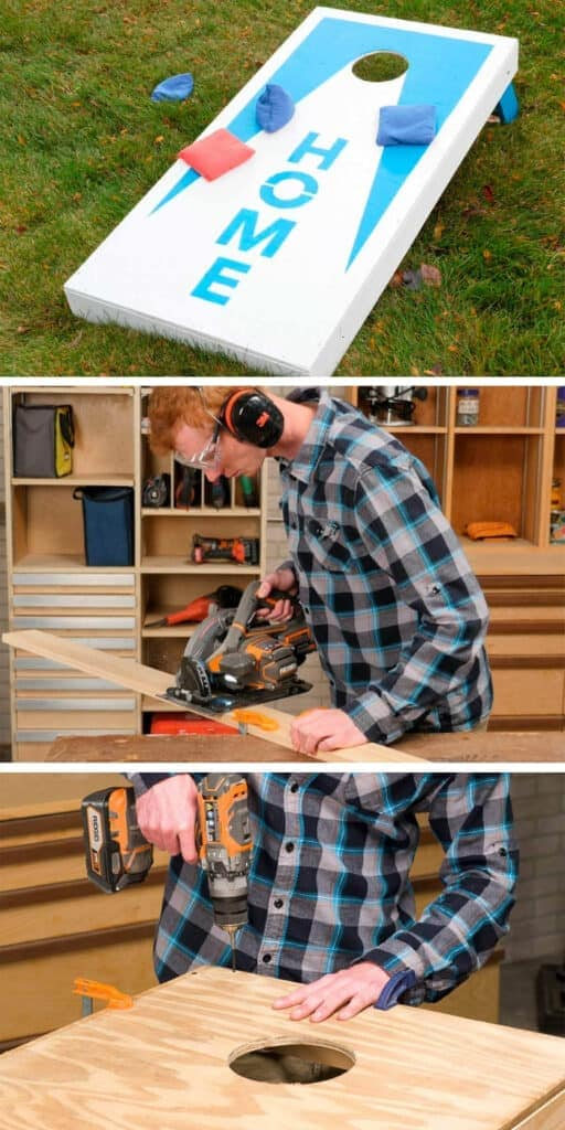 Build together and play together with this Cornhole Wood Project - Quick and easy wood project for the whole family