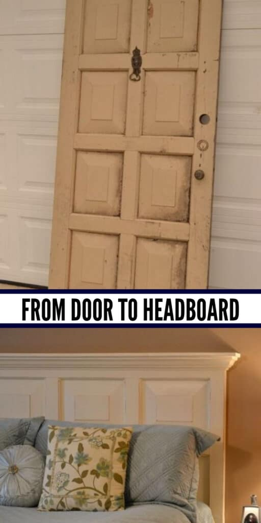 Turn your old panel door into a functional headboard - These furniture hacks will turn outdated and old furniture into treasured pieces. From little to no money you can have creative furniture statements throughout your home. thesawguy.com