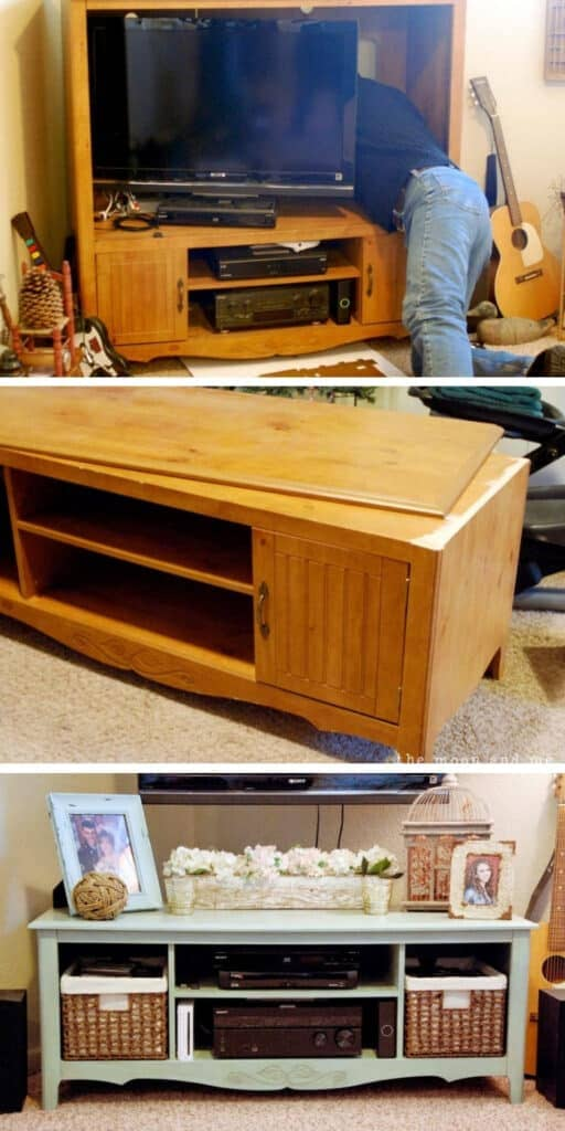 From 80's Entertainment center to shabby chic - These furniture hacks will turn outdated and old furniture into treasured pieces. From little to no money you can have creative furniture statements throughout your home. thesawguy.com