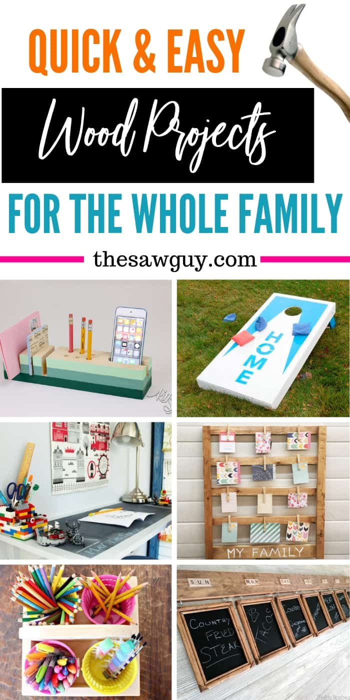 15 Quick Wood Projects You Can Do With Your Family At Home