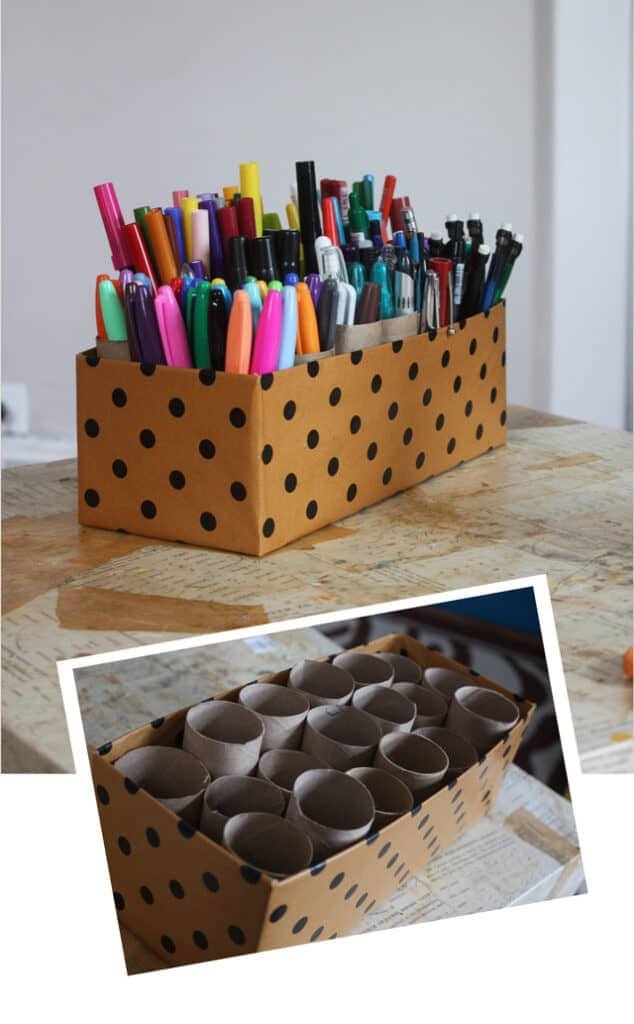 Marker Caddy Learn how to make an insanely easy marker caddy in under ten minutes with very few supplies! Not only is it completely functional, but it looks fantastic on your desk too. thesawguy.com