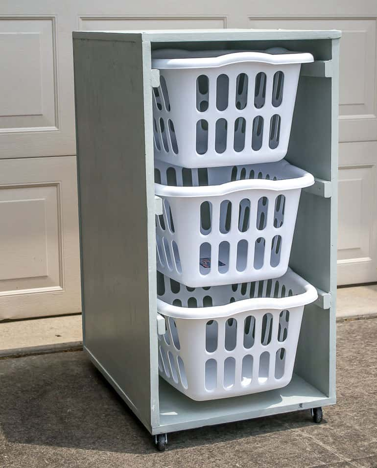 Nobody likes laundry but now you can keep it organized. Quick and easy wood project for the whole family