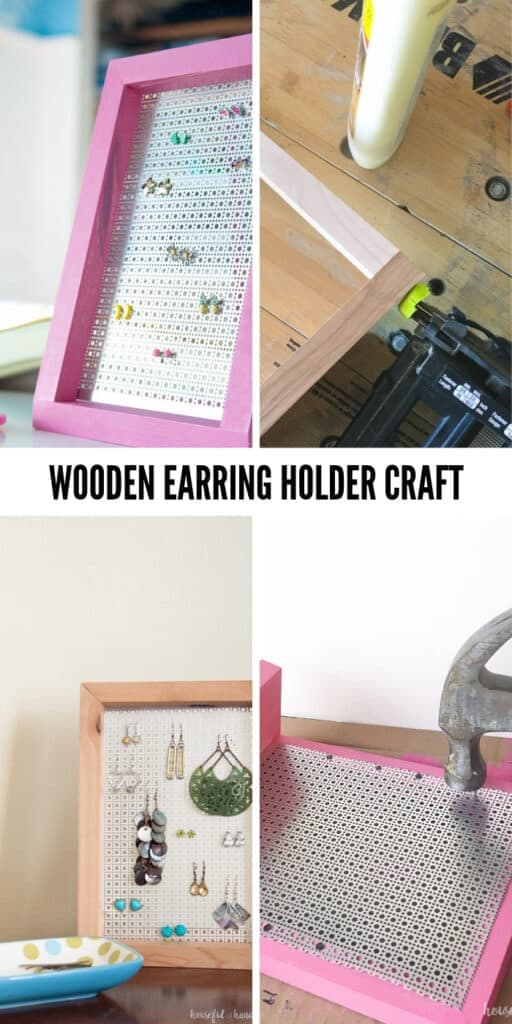 Don't mis place those earnings any more, Wooden Earring Holder - Quick and easy wood project for the whole family