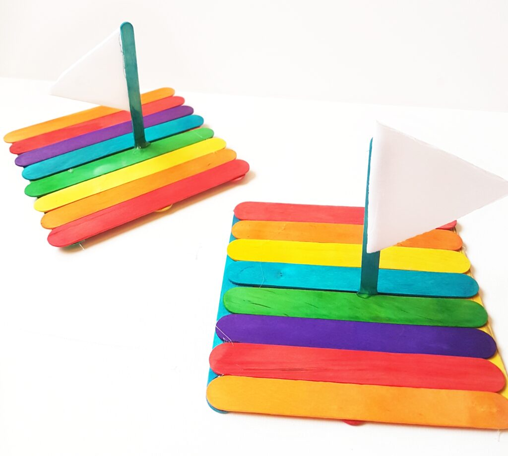 Floating Rainbow Popsicle Raft Craft Easy to follow directions to make this floating rainbow popsicle raft craft. You can even have raft races with the kids once you are all done. Each one can be customized based on your color preferences. thesawguy.com