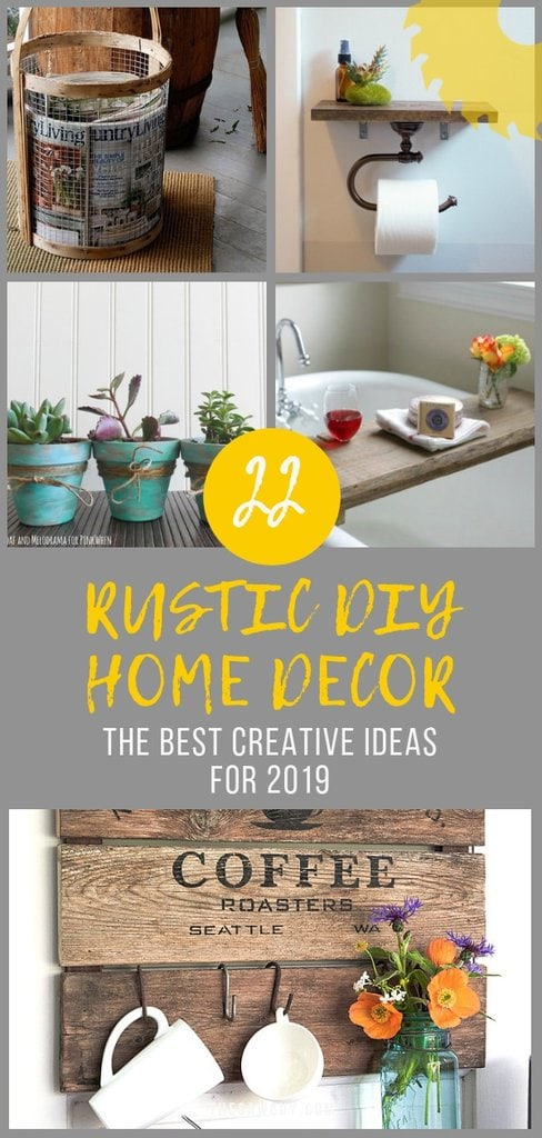 22 Rustic Diy Home Decor Ideas For 2019 The Saw Guy