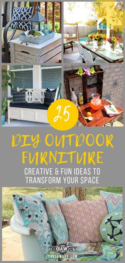 25 DIY Outdoor furniture ideas - thesawguy.com