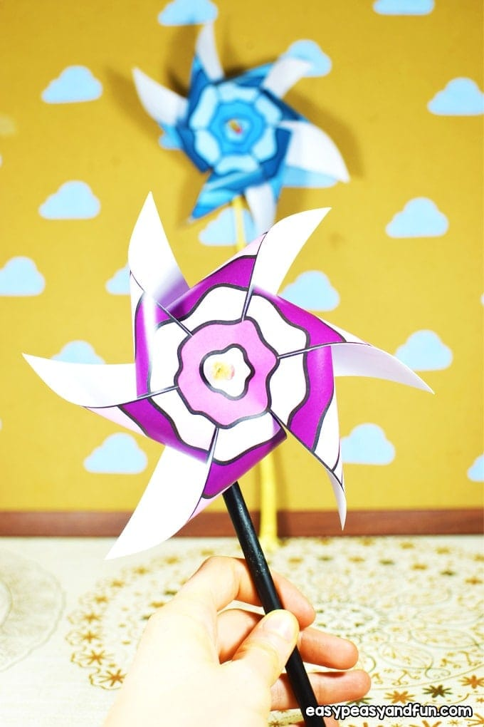 Paper Pinwheels Paper pinwheels are a classically fun craft to make and play with. Kids big and small love to blow on a pinwheel and watch it spin. Have a peek to make your own. thesawguy.com
