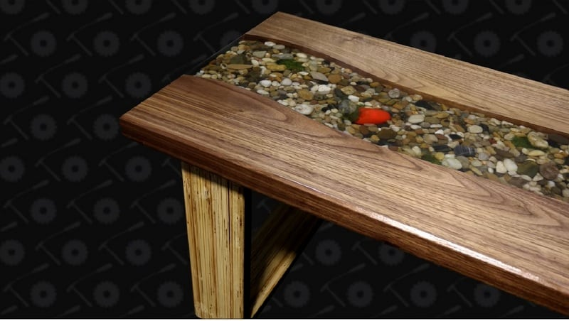 This DIY riverbed coffee table is so unique and gorgeous.  The best part is that it is inexpensive to make and not even that complicated! Check it out! thesawguy.com