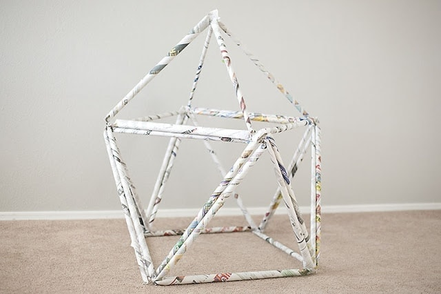 Newspaper Fort Imagine how much fun your little ones are going to have building and playing in their own homemade newspaper fort. Now you finally have a great use for that giant stack of newspapers you have had sitting around. thesawguy.com