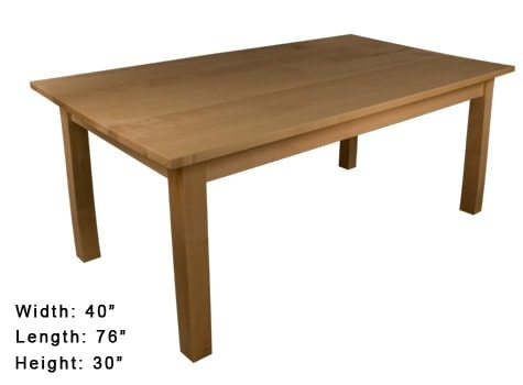 Everything you need is in this kit to make a terrific dining table on your own. Choose the type of wood you want and it will all be shipped right to your door. thesawguy.com