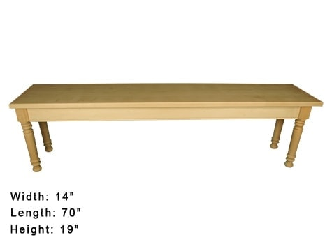 This farmhouse style bench kit can be painted or stained and will look awesome when it is done. Add it to your dining table for a complete set. Quick and easy project for a beginner.  thesawguy.com