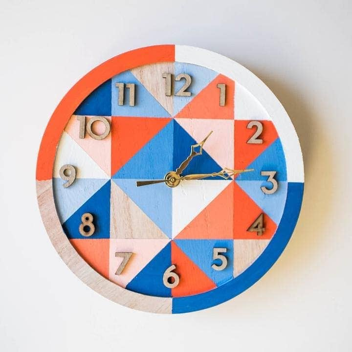 This wooden clock kit is fantastic! Paint the clock with any design that you like. They include all the paint and supplies that you need. thesawguy.com