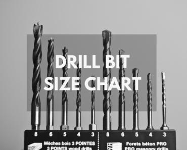 best drill bit size chart