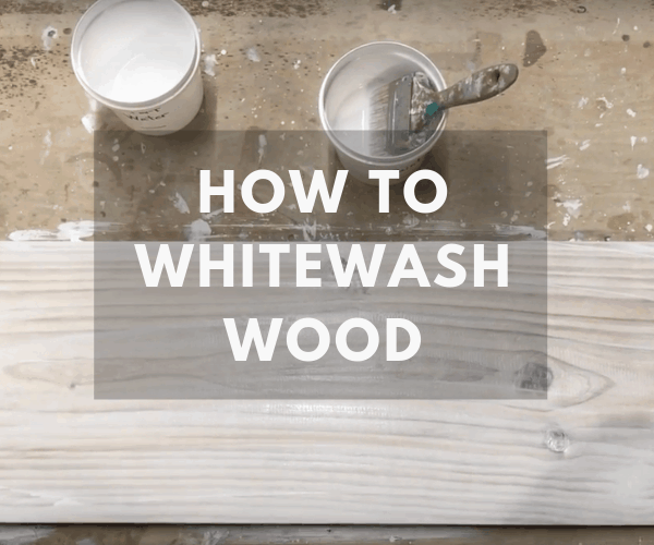 How To Whitewash Wood The Saw Guy