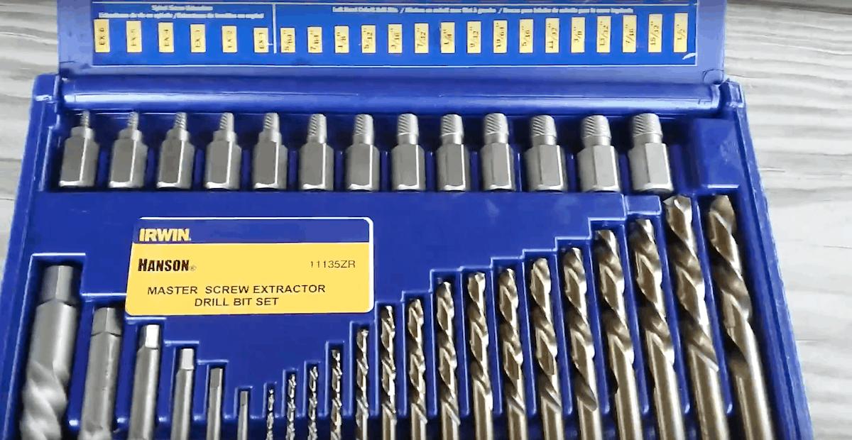 Left Hand Drill Bit Set Drills Screw Extractors No Case Warranty Drill Hog USA