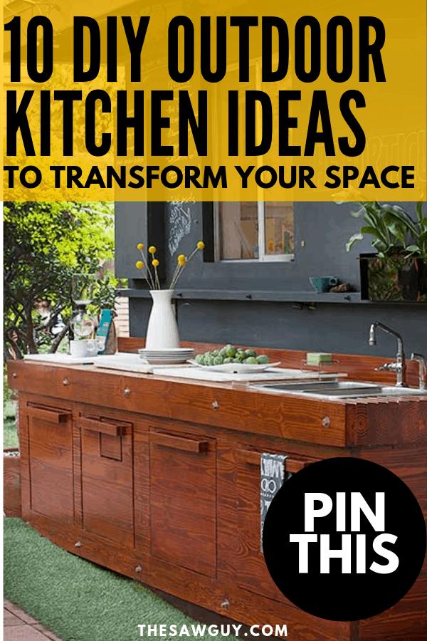 10 DIY Outdoor Kitchen Ideas - The Saw Guy