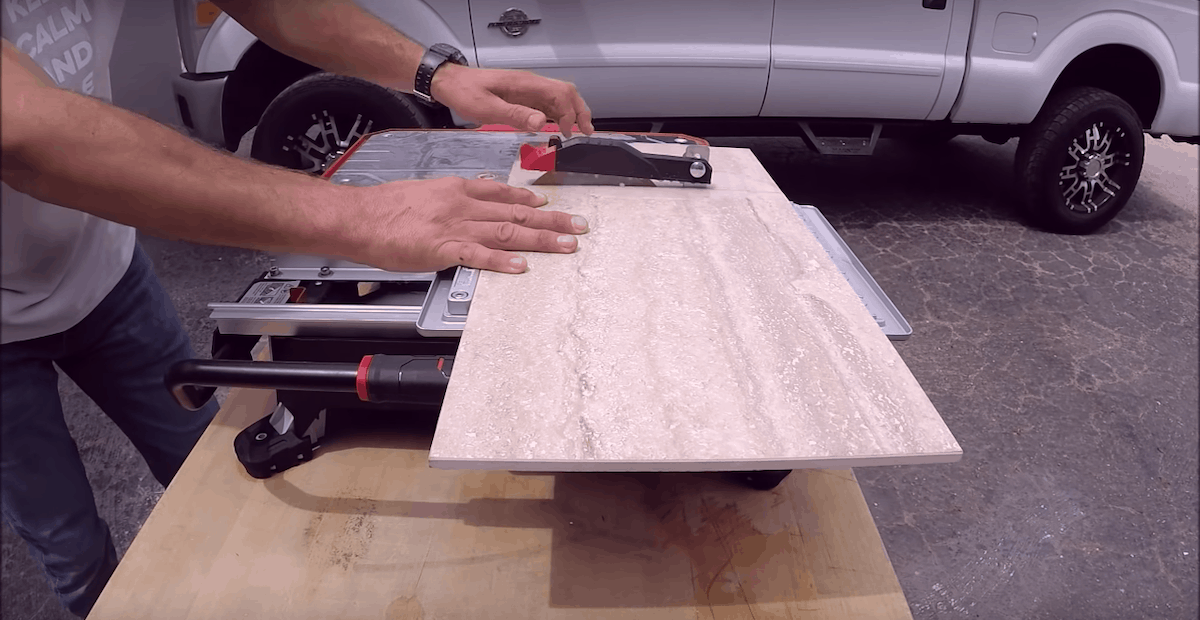 can you cut tile with a table saw
