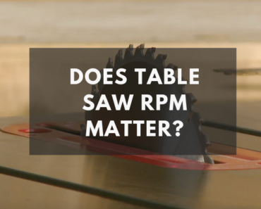does table saw rpm matter