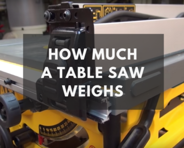 how much does a table saw weigh