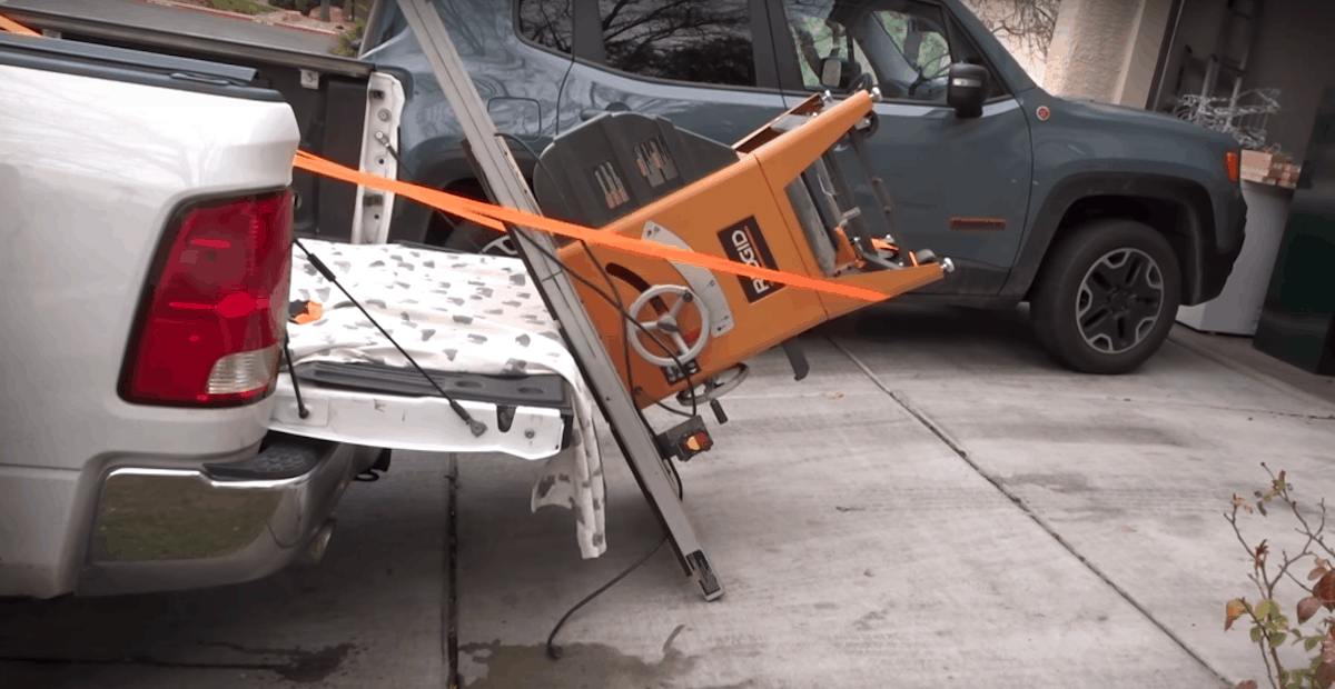 how to transport a table saw
