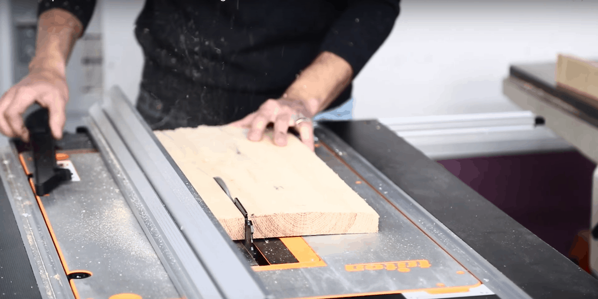 is my table saw burning wood
