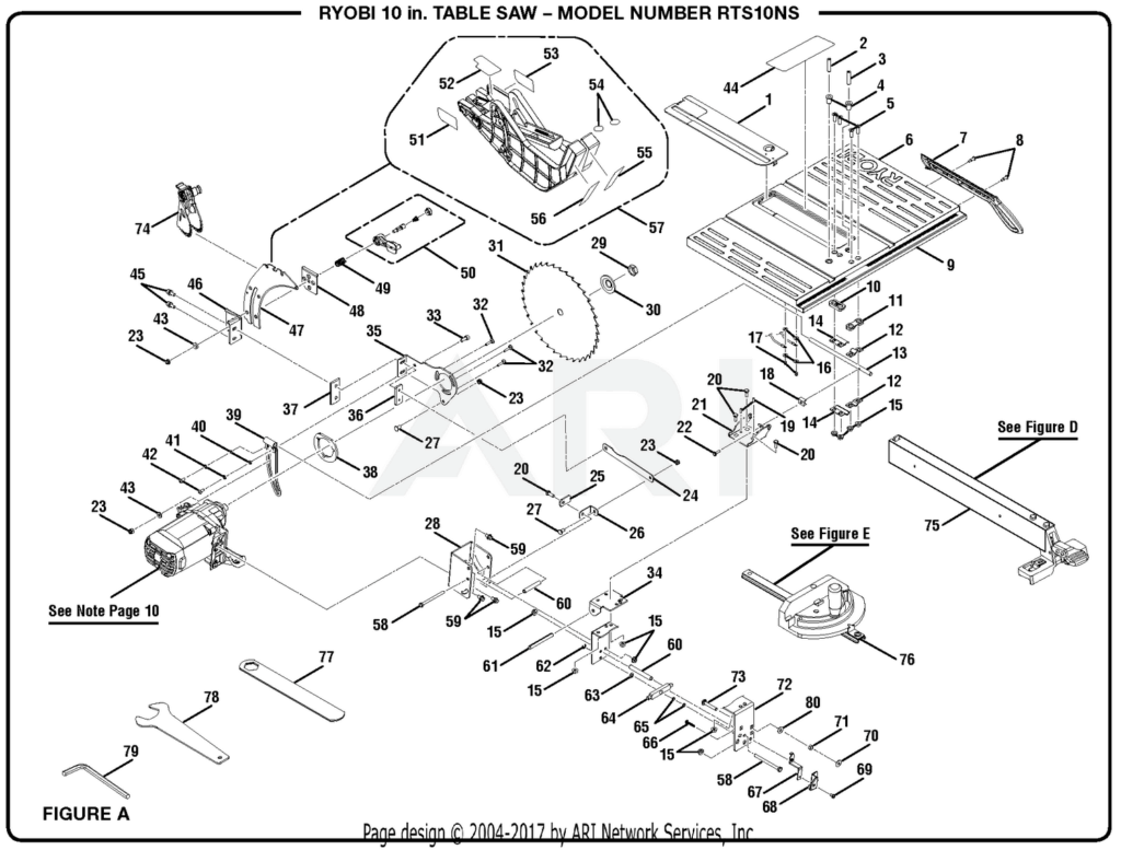 Pleasing Ryobi Table Saw Diagram Wiring Schematic Diagram Home Interior And Landscaping Mentranervesignezvosmurscom