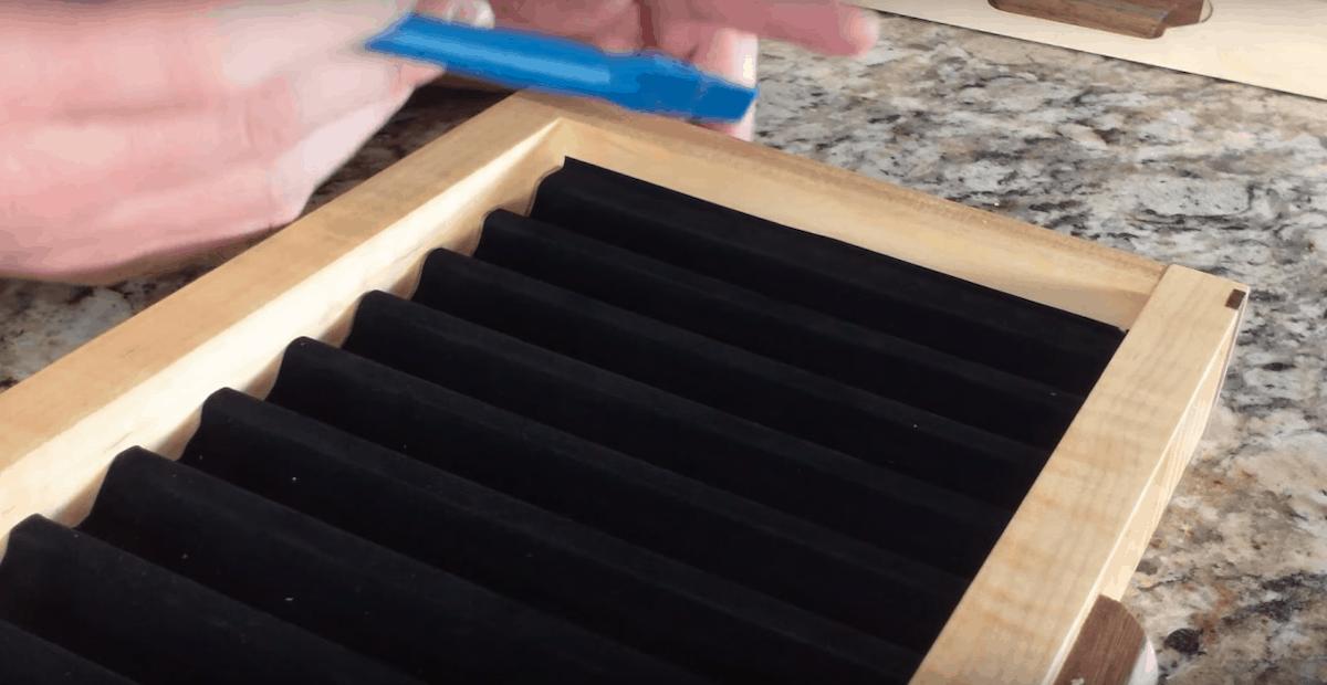 how to glue felt to wood
