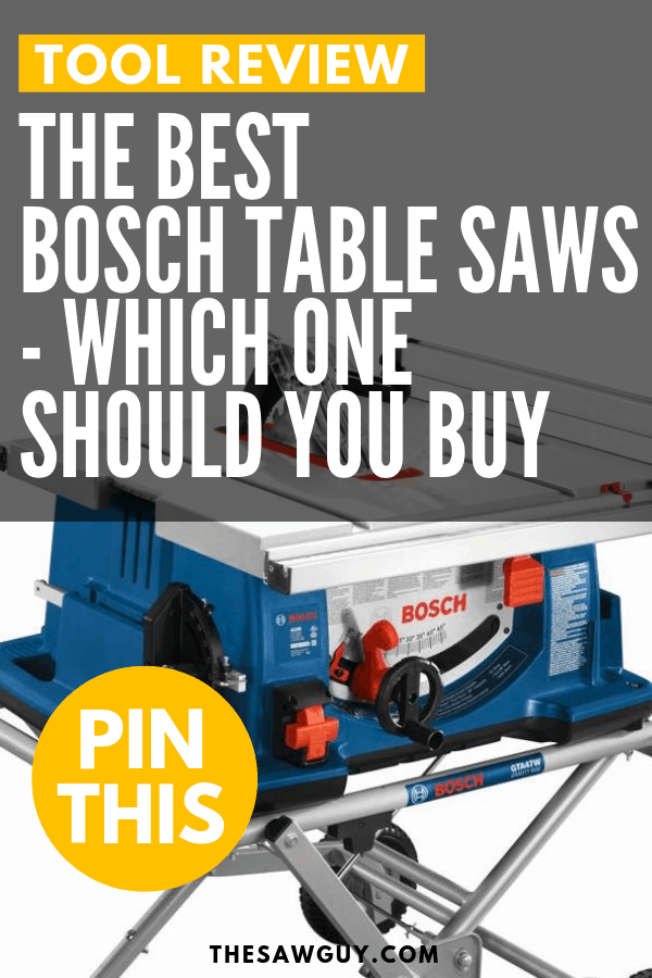 The Best Bosch Table Saws - The Saw Guy
