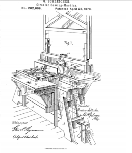 First table saw patent
