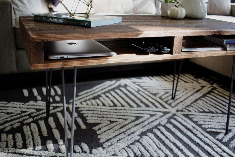 Mid century modern pallet coffee table