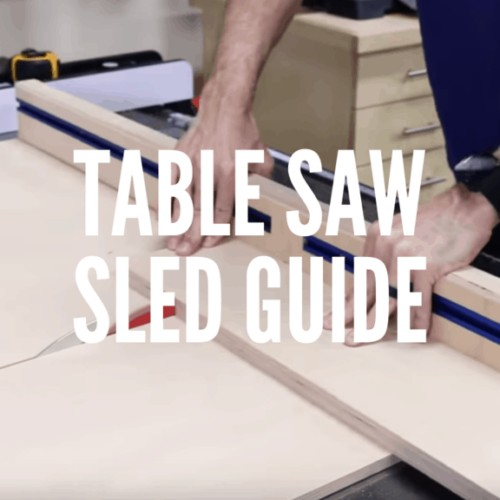 Table Saw Sled Guide